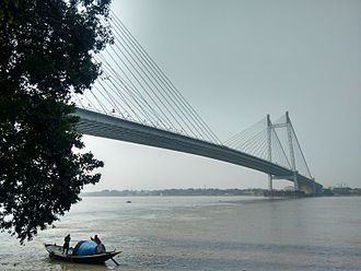 Prinsep Ghat - View of the River Hooghly and Vidyasagar Setu from Prinsep ghat