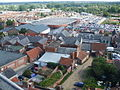 View of Beccles Tesco from the church Tower - geograph.org.uk - 1453504.jpg