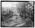 View of approach looking east - Dobbs Ford Bridge, Spanning Candies Creek, Cleveland, Bradley County, TN HAER TN-26-4.tif
