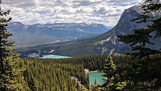 Canadian Rockies - View of Lake Louise in Alberta
