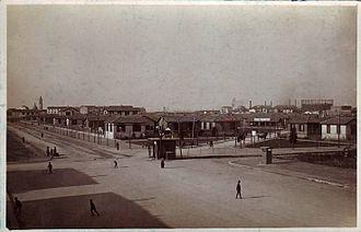 Quartiere Campo dei Fiori - The Village viewed from Via Mac Mahon in 1921