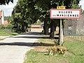 Villers-lès-Mangiennes (Meuse) city limit sign.JPG