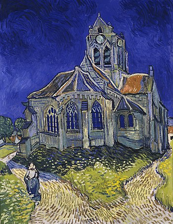 Resultado de imagen de La iglesia de Auvers-sur-Oise