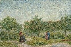 Vincent van Gogh: Garden in Montmarte with lovers