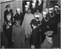 Visit of Emperor Haile Selassie of Ethiopia on USS Qunicy in Great Bitter Lake, Egypt. - NARA - 195823.tif