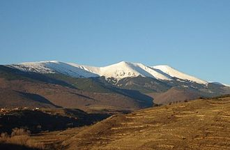 Alcalá de Moncayo - The Moncayo Massif seen from Alcalá de Moncayo