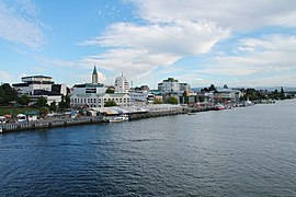 Panoramic view of Valdivia from Pedro de Valdivia Bridge
