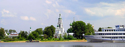 Many Orthodox shrines and monasteries are located along the banks of the Volga Volga tolga.jpg