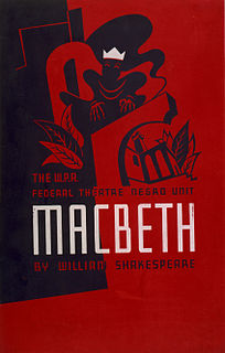 production of Macbeth adapted and directed by Orson Welles