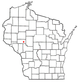 Location of Augusta within Wisconsin