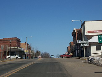 Wisconsin Highway 82 - Travelling on Wisconsin Highway 80 at its intersection with Wisconsin Highways 82 and 33 in Hillsboro, Wisconsin, USA.