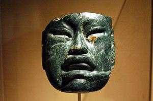 Olmec - Olmec jadeite mask 1000–600 BCE