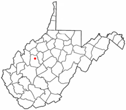 Location of Spencer, West Virginia