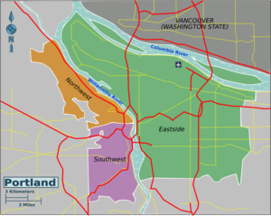 Portland (Oregon) – Travel guide at Wikivoyage on map downtown portland oregon, map bike route signs, map of portland and seattle,