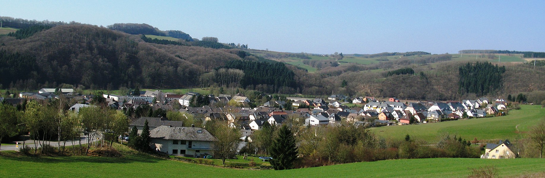 Northern part of Warken seen from the hill Tonn.
