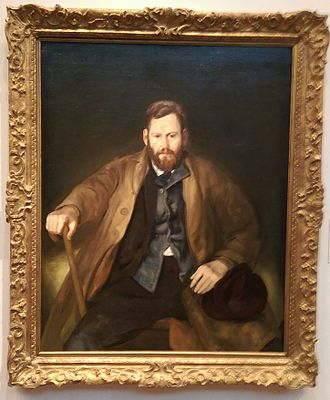 Waldo Peirce - Portrait painting of Peirce by George Bellows, 1920, on display at the de Young Museum in San Francisco