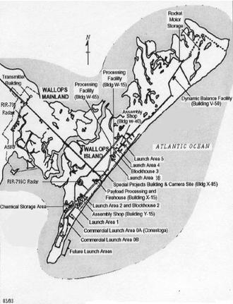 Wallops Island - Image: Wallops Island map
