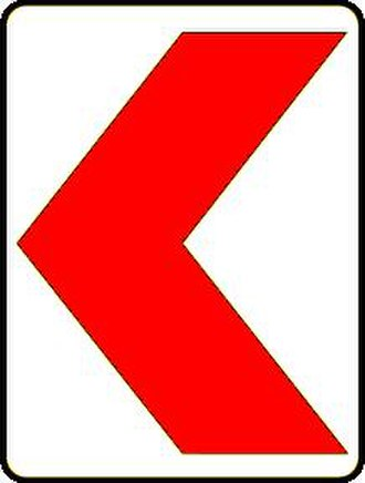 Road signs in Iran - Image: Warning Bend in Iran