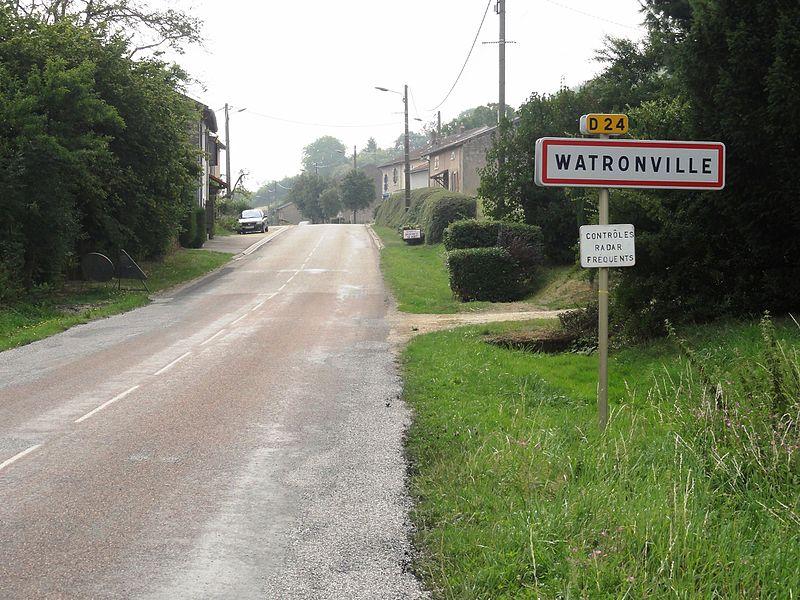 Watronville (Meuse) city limit sign