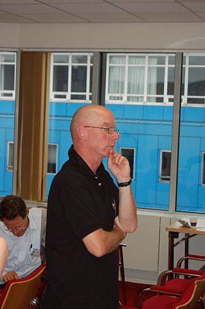 Oscar van Dillen - Oscar van Dillen at a Dutch Wikipedia meeting (2006)