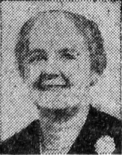 Photograph of a older smiling woman