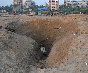 Versova, Mumbai - Image: Well on Versova Beach used for Methi