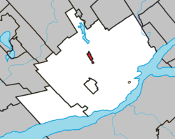 Location of Wendake within the Québec equivalent territory
