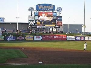 Werner Park -  Werner Park scoreboard in 2011