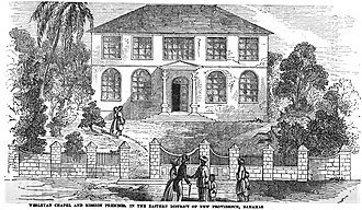 Nassau, Bahamas - Wesleyan Chapel and Mission Premises. In the Eastern District of New Providence, Bahamas (p.6, 1849) (Ebenezer Methodist Church, Nassau, Bahamas)