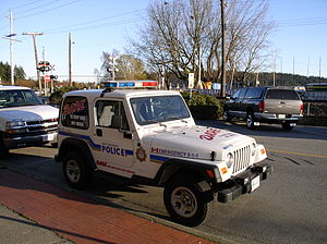 Drug Abuse Resistance Education - West Vancouver D.A.R.E. jeep