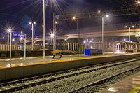 Widok na zrewitalizowany peron nr 2 stacji Rybnik Towarowy. Listopad 2015 r..jpg