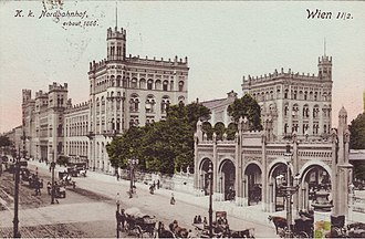 Wien Praterstern railway station - The old Nordbahnhof in 1908