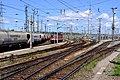 Wien Zentralverschiebebahnhof Richtungsgruppe Tfz-Harfe.jpg