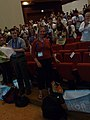 Wikimania 2008 - Closing Ceremony - Florence ovation - 1.jpg