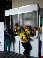 Wikimania 2015-Wednesday-Shirt-backpack desk (1).jpg
