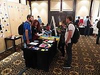 Wikimania 2018 - Community village (Day 1) 3.jpg