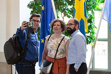 Wikimania Stockholm 2019-08-15 WikiGap reception 16 MW.jpg