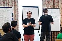 Wikimedia Hackathon Vienna 2017-05-19 Mentoring Program Introduction 040.jpg