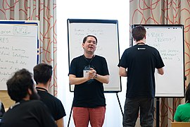Wikimedia Hackathon Vienna 2017-05-19 Mentoring Program Introduction 040.jpg