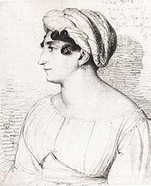 Henriette Herz 1823 (Bleistiftzeichnung von Wilhelm Hensel) (Quelle: Wikimedia)