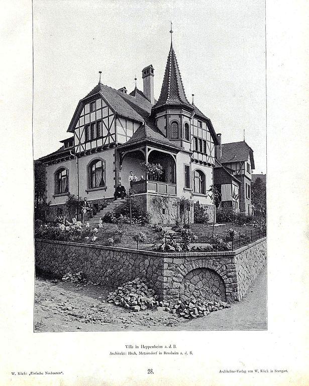 Architekt Bensheim datei wilhelm kick einfache neubauten stuttgart 1890 villa in heppenheim a d b architekt