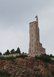 Will Rogers Shrine of the Sun commemorative tower and chapel in Colorado Springs, Colorado
