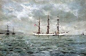 William Ayerst Ingram - Image: William Ayerst Ingram At Anchor