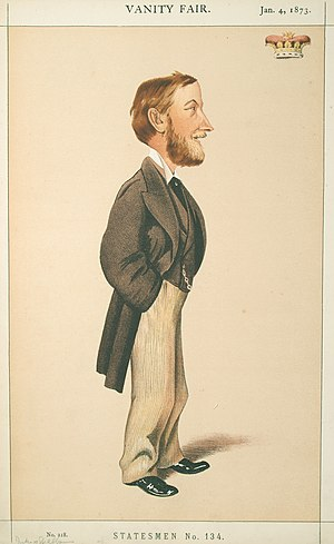 William Beauclerk, 10th Duke of St Albans - 1873 caricature, by Melchiorre Delfico, of the Duke of St Albans