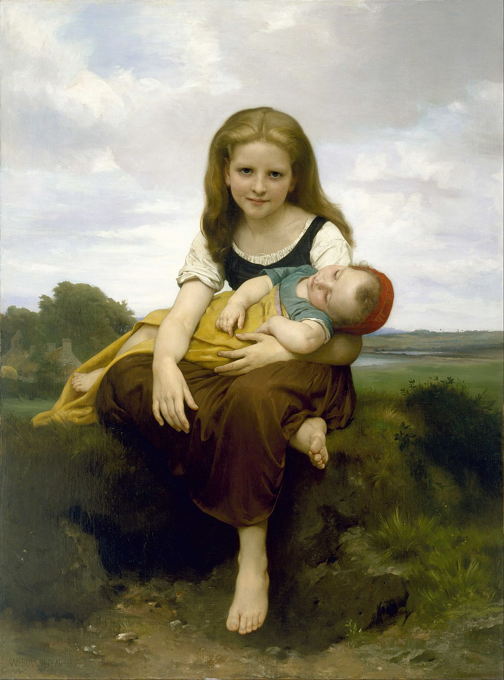 """""""The Elder Sister"""" by William-Adolphe Bouguereau"""