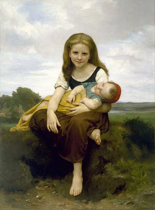 William Bouguereau - The Elder Sister - Google Art Project