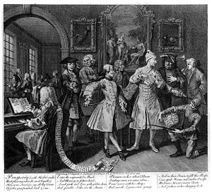 A Rake's Progress - Image: William Hogarth A Rake's Progress Plate 2 Surrounded By Artists And Professors