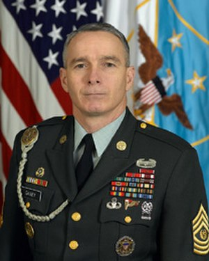 Senior Enlisted Advisor to the Chairman - Command Sergeant Major William Gainey, USA, 1st Senior Enlisted Advisor to the Chairman (October 1, 2005 – April 25, 2008).