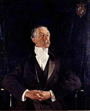 Althorp - Charles Spencer, 6th Earl Spencer, who owned Althorp from 1910 until his death in 1922. Portrait by Sir William Orpen.