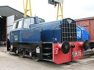 """Rolls-Royce C range engines - """"Sentinel"""" diesel locomotive, badged as """"Powered by Rolls-Royce"""""""